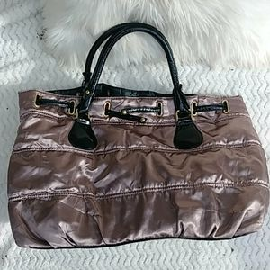 EUC Gorgeous Satin Quilted  Overnight Bag